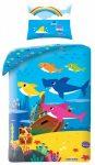 Baby Shark ágyneműhuzat 140×200cm, 70×90 cm