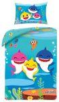 Baby Shark gyerek ágyneműhuzat 100x135 cm, 40x60 cm