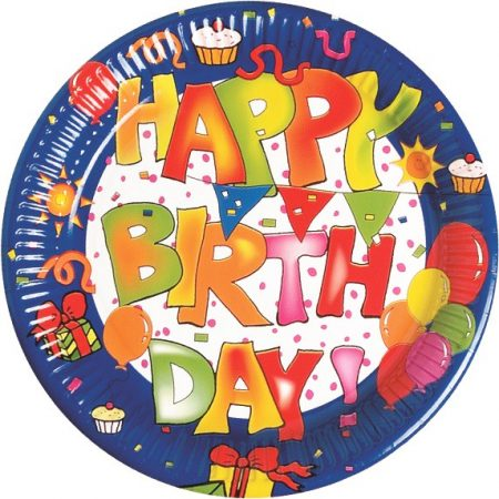 Kokliko Happy Birthday Papírtányér 10 db-os 23 cm