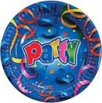 Party Streamers Papírtányér 8 db-os 19,5 cm Metallic