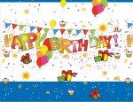 Kokliko Happy Birthday Asztalterítő 120*180 cm