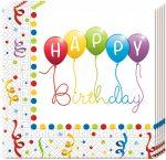 Happy Birthday Streamers szalvéta 20 db-os