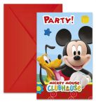 Disney Playful Mickey Party Meghívó 6 db-os