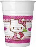 Hello Kitty Hearts Műanyag pohár 8 db-os 200 ml