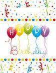 Happy Birthday Streamers Ajándéktasak 6 db-os