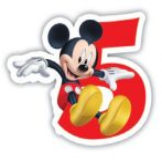 Disney Mickey tortagyertya, számgyertya