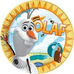 Disney Frozen Olaf Summer, Jégvarázs Papírtányér 8 db-os 23 cm