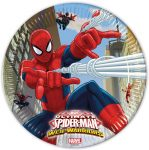 Ultimate Spiderman Web Warriors, Pókember Papírtányér 8 db-os 23 cm