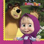 Masha and the Bear szalvéta 20 db-os