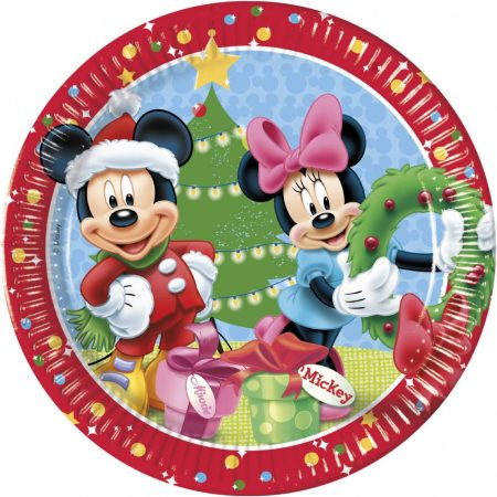Disney Mickey Christmas Time Papírtányér 8 db-os 23 cm