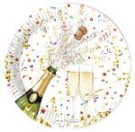 Sparkling Celebration, Csillogó ünneplés Papírtányér 8 db-os 23 cm Metallic