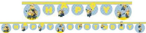 Lovely Minions, Minyonok Happy Birthday felirat 200 cm