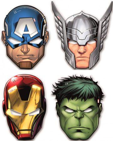 Mighty Avengers, Bosszúállók Maszk, álarc 6 db-os