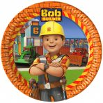 Bob the Builder, Bob, a mester Papírtányér 8 db-os 23 cm