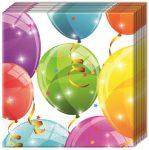 Sparkling Balloons, Lufis szalvéta 20 db-os