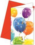 Sparkling Balloons, Lufis Party Meghívó 6 db-os