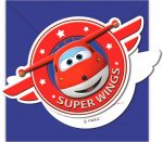 Super Wings Party Meghívó 6 db-os