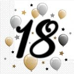 Milestone, Happy Birthday 18 szalvéta 20 db-os
