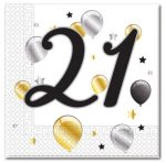 Milestone, Happy Birthday 21 szalvéta 20 db-os