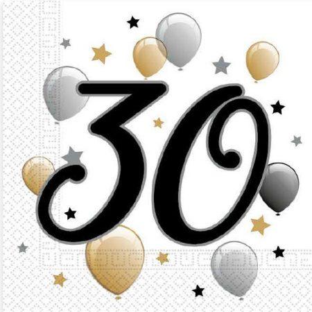 Milestone, Happy Birthday 30 szalvéta 20 db-os