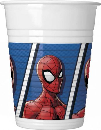 Spiderman Team Up, Pókember Műanyag pohár 8 db-os 200 ml
