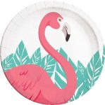 Flamingo, Flamingó Papírtányér 8 db-os 23 cm