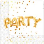 Gold Party szalvéta 20 db-os