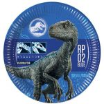 Jurassic World Papírtányér 8 db-os 23 cm