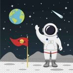Outer Space, Világűr szalvéta 20 db-os