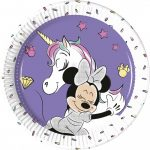 Disney Minnie Unicorn Metallic Papírtányér 8 db-os 20 cm