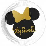 Disney Minnie Gold Papírtányér 8 db-os 20 cm