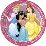 Disney Princess Day Dream, Hercegnők Papírtányér 8 db-os 23 cm