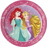 Disney Princess Day Dream, Hercegnők Papírtányér 8 db-os 20 cm