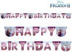 Disney Jégvarázs Frozen II Happy Birthday felirat 200 cm