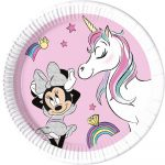 Disney Minnie Unicorn Dreams Környezetbarát, komposztálható Papírtányér 8 db-os 20 cm