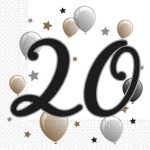 Milestone, Happy Birthday 20 szalvéta 20 db-os