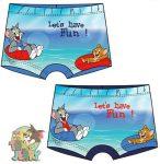 Baba fürdőnadrág, short Tom and Jerry 12-36 hó