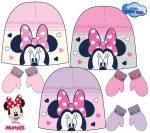 Baba sapka + kesztyű szett Disney Minnie