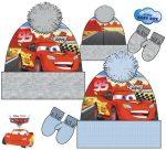 Baba sapka + kesztyű szett Disney Cars, Verdák