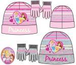 Gyerek sapka + kesztyű szett Disney Princess, Hercegnők