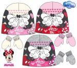 Disney Minnie baba sapka + kesztyű szett