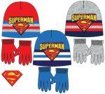 Gyerek sapka + kesztyű szett Superman