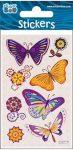 Pillangó matrica ezüst díszítéssel