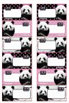 Panda Füzetcímke