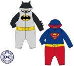 Plüss baba kezeslábas Batman, Superman
