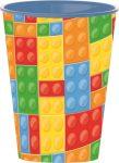 Bricks, Lego mintázatú pohár, műanyag 260 ml