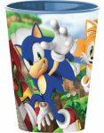 Sonic, a sündisznó pohár, műanyag 260 ml