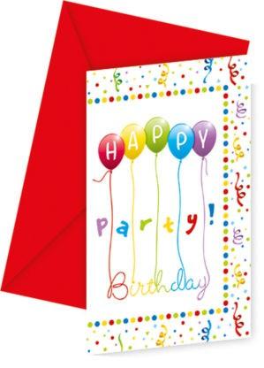 Happy Birthday Party Invitation Card 6 Pieces Javoli Disney